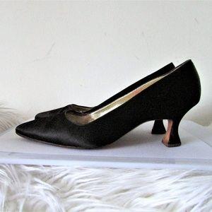 Christian Lacroix black textile pumps 5 1/2
